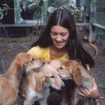 Gwen Van Kleef with Saluki pups